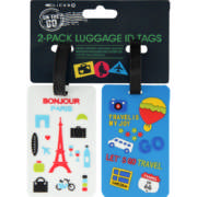 Rubber Luggage Id Tags 2 Pack