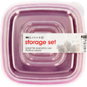 Square Storage Set 4 Pieces