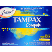 Compak Applicator Tampons Regular 16 Tampons