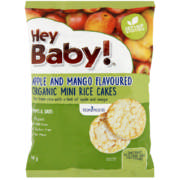 Organic Mini Rice Cakes Apple & Mango 40g