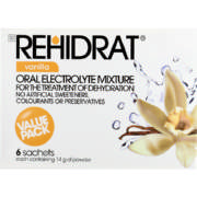 Oral Electrolyte Mixture Vanilla 6 Sachets