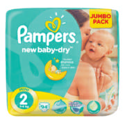 Newbaby-Dry Disposable Nappies Jumbo Pack Size 2 94 Nappies