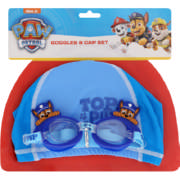 Paw Patrol Swimming Goggles and Cap Blue