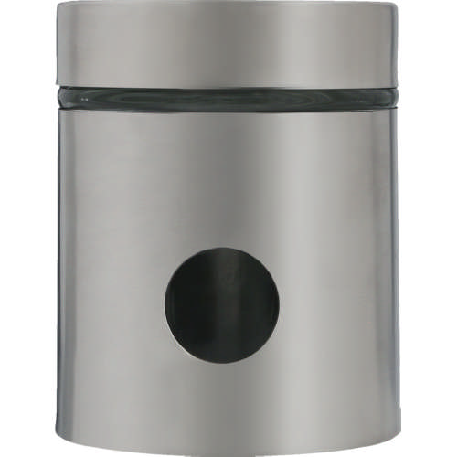 Glass And Stainless Steel Dot Canister Small