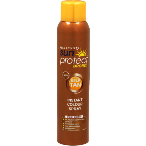 Bronze Self Tan Instant Colour Spray Medium 150ml