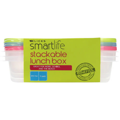Stackable Lunch Box 3 Pack