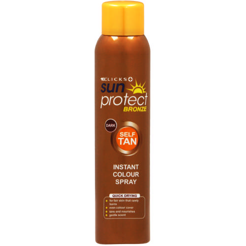 Bronze Self Tan Instant Colour Spray Dark 150ml