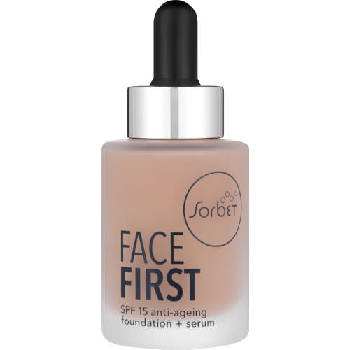 Face First SPF15 Anti-Ageing Foundation + Serum Honey 30ml