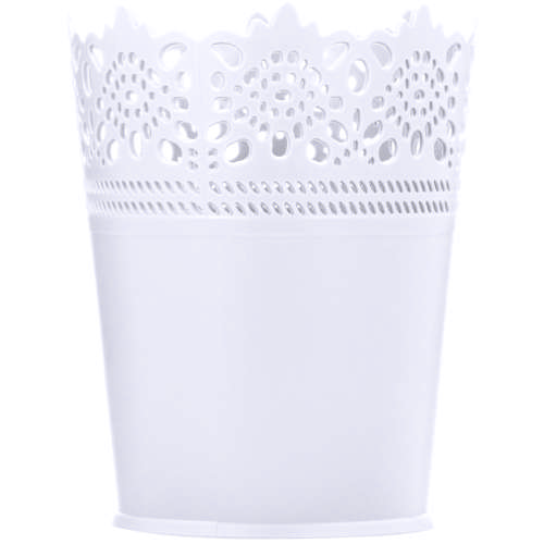 Plastic Lace Round Holder White