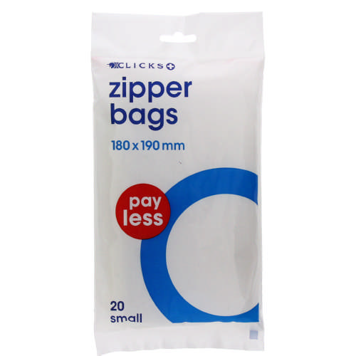 Pay Less Zipper Bags Small 20 Bags