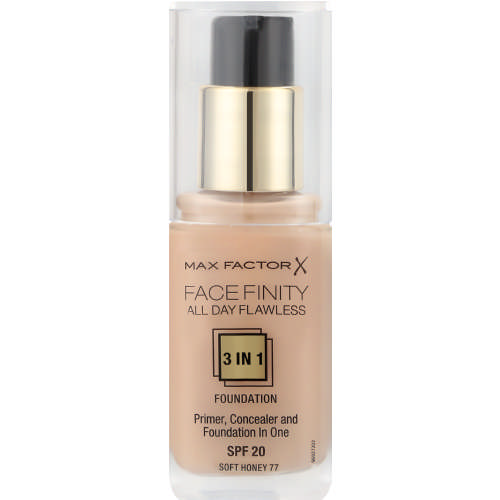 Facefinity SPF20 All Day Flawless 3-In-1 Foundation Soft Honey 30ml