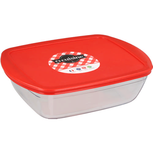 Rectangular Glass Dish & Lid 2.6L