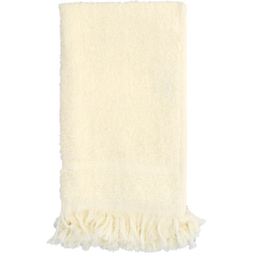 Fringed Guest Towel Set Cream 2 Piece