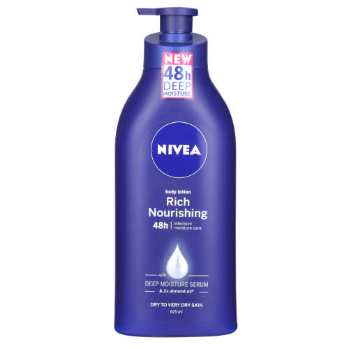 Rich Nourishing Body Moisturiser Dry Skin 625ml