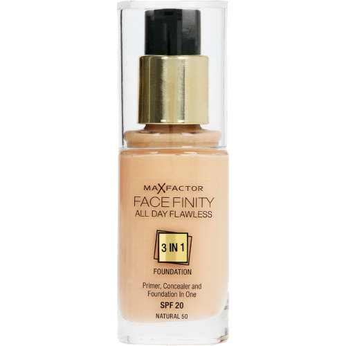 Facefinity SPF20 All Day Flawless 3-In-1 Foundation Natural 30ml