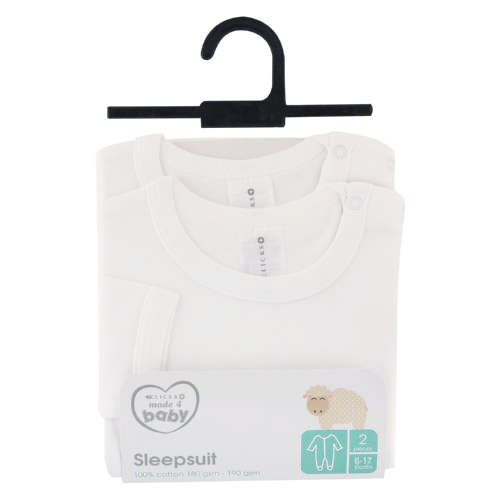 Made 4 Baby 2 Pack Sleepsuits 6-12 Months