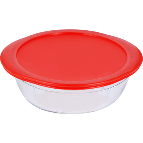 Round Glass Dish & Lid 2.3L
