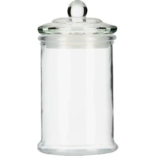 Glass bathroom storage jar small offer expires 26 may for Small bathroom jars