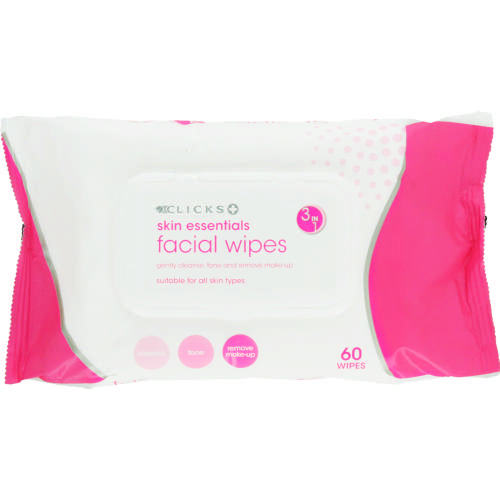 Skin Essentials 3-in-1 Facial Wipes All Skin Types 60 Wipes