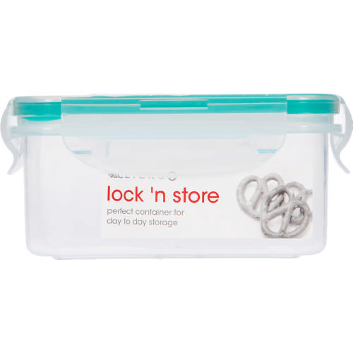 Lock 'n Store Plastic Container Rectangular 400ml