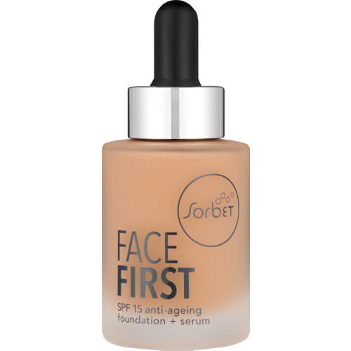 Face First SPF15 Anti-Ageing Foundation + Serum Amber 30ml