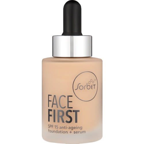 Face First SPF15 Anti-Ageing Foundation + Serum Wheat 30ml