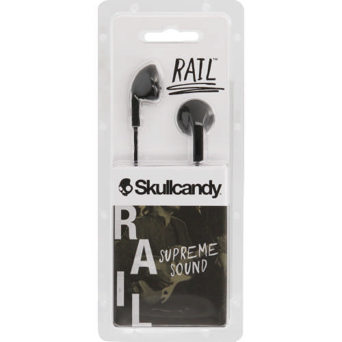 Rail In Ear Headphones Charcoal black