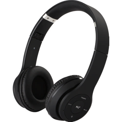On Ear Bluetooth With Mic Headphones 2004 Black