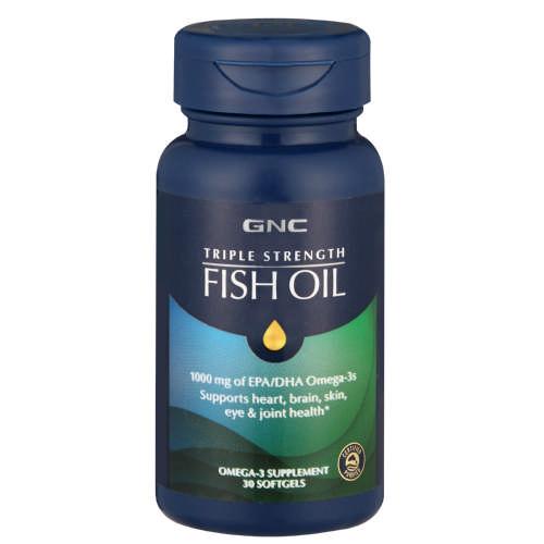 GNC Triple Strength Fish Oil 30 Softgels - Clicks e9385cfd128