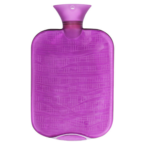 Pvc Ribbed Hot Water Bottle Assorted