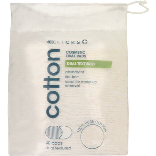 Cotton Cosmetic Oval Pads 40 Pads