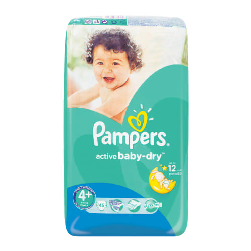 Pampers Active Baby Dry Disposable Nappies Size 4 45