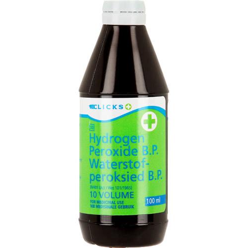 Clicks Hydrogen Peroxide B P  10 Volume 100ml - Clicks