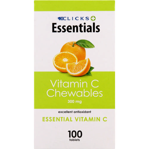 Essentials Chewable Vitamin C 300mg Orange 100 Tablets
