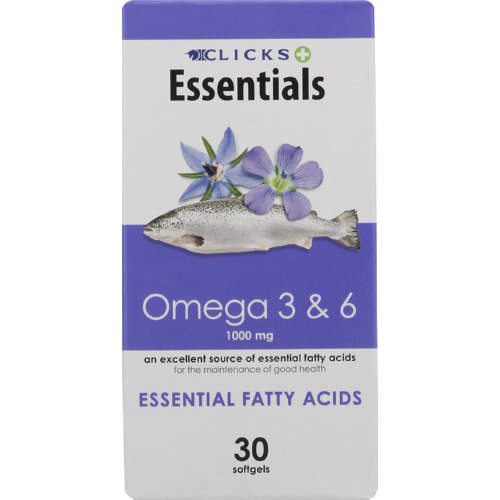 Healthbasics Omega 3 & 6 Softgels 30