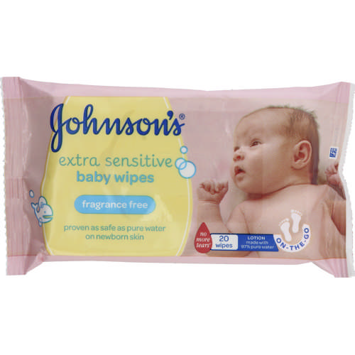 a5ce72e6d86 Johnson's Baby Gentle Cleansing Wipes Lightly Fragranced 20 Wipes ...