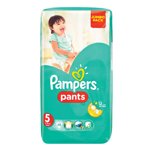 pampers pants size 5 jumbo pack disposable nappies 48. Black Bedroom Furniture Sets. Home Design Ideas