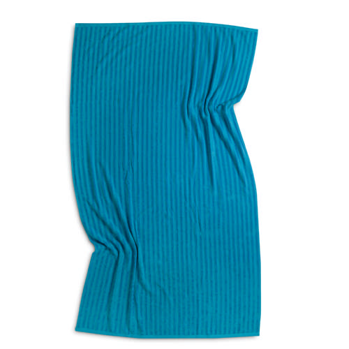 Ribbed Beach Towel Turquoise