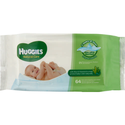 Natural Care Baby Wipes 56 Wipes