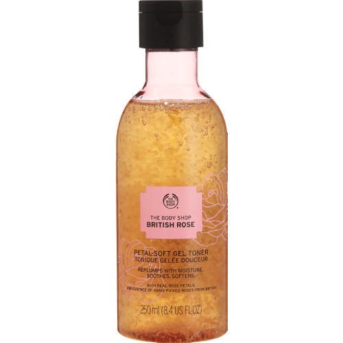 British Rose Petal Soft Gel Toner 250ml