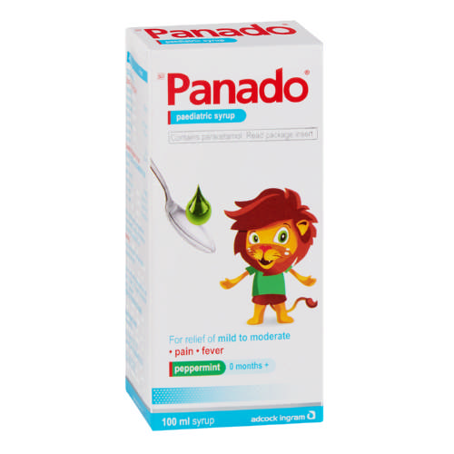 Panado Paediatric Syrup Peppermint 100ml Clicks