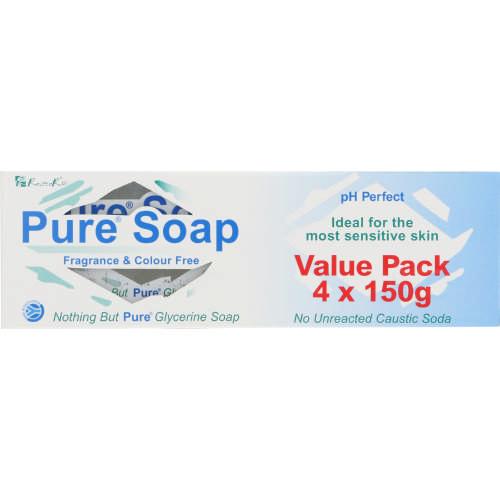 Pure Soap Value pack Hard Bar 150gx4 - Clicks