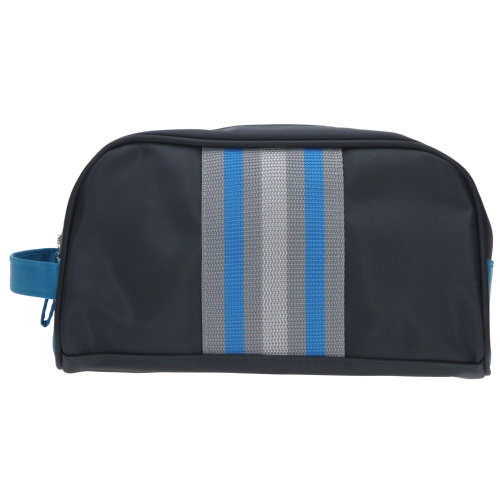 Mens Navy & Turquoise Toiletry Bag Small