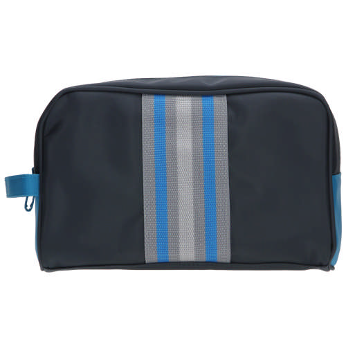 Mens Navy & Turquoise Toiletry Bag Large