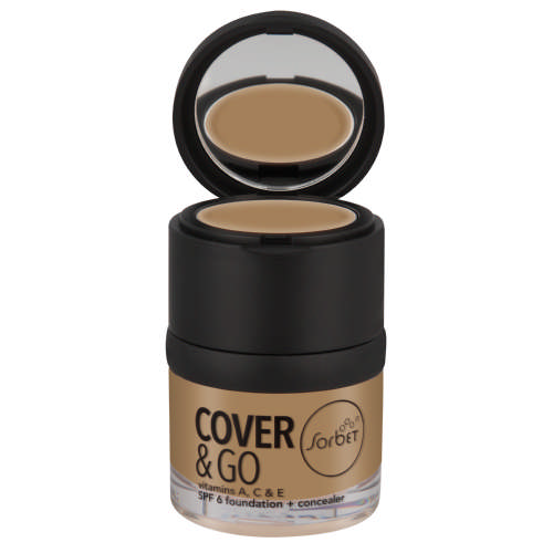 Cover & Go SPF6 Foundation & Concealer Caramel 25 ml +1.2gr