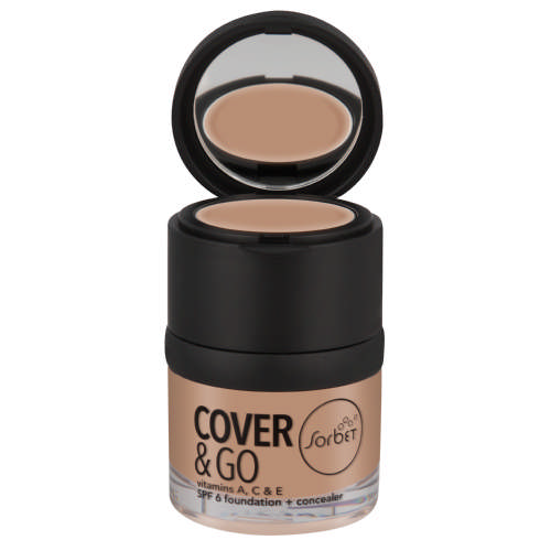 Cover & Go SPF6 Foundation & Concealer Biscuit 25ml + 1.2gr