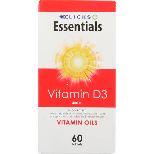 Essentials Supplementation Vitamin D3 60 Tablets