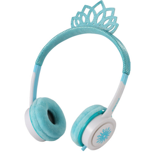 Ice Princess Tiara Costume On Ear Headphones