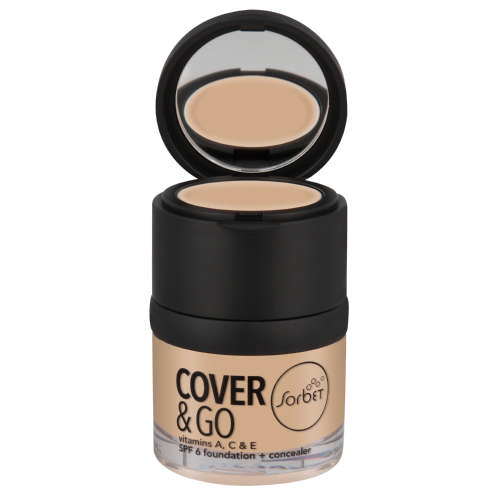 Cover & Go SPF6 Foundation & Concealer Natural Beige 25ml + 1.2gr