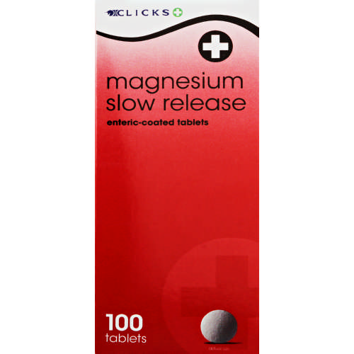 Magnesium Slow Release 100 Tablets